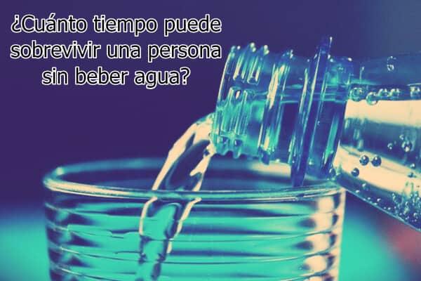 ¿Cuánto tiempo puede sobrevivir una persona sin beber agua?